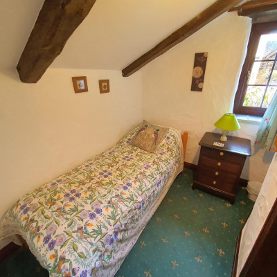 Single room with small single bed