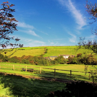 The cottage view of the Porth valley