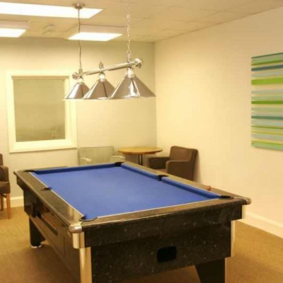 Pool room, part of the entertainment facilities