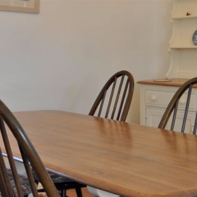 Dining with upcycled Ercol furniture