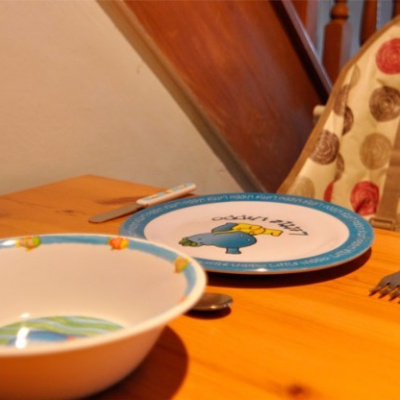 Crockery provided for toddlers