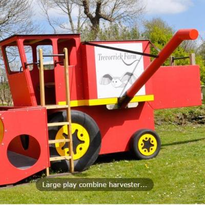 Combine harvester and slide