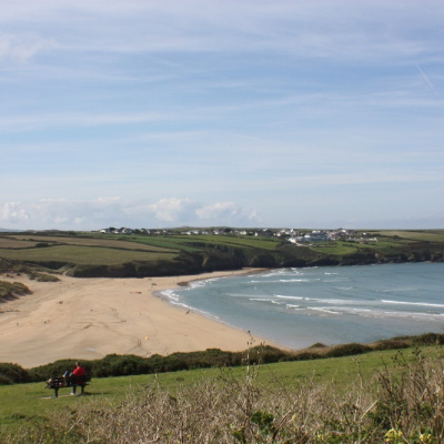 Award winning Crantock beach