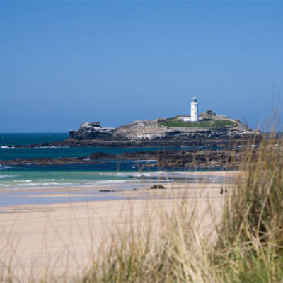 Godrevy beach is just a short distance away