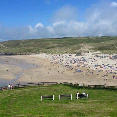 Perranporth beach - busy!