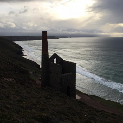 Dramatic silhouette of Wheal Coates