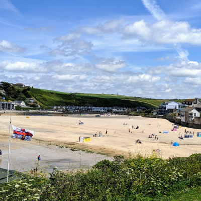 Porth Beach, one of Newquay's best equipped family beaches.