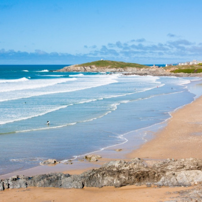 Fistral Beach just 5 minutes walk away
