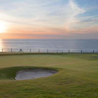 Newquay's beautiful Links Course, just moments across the road