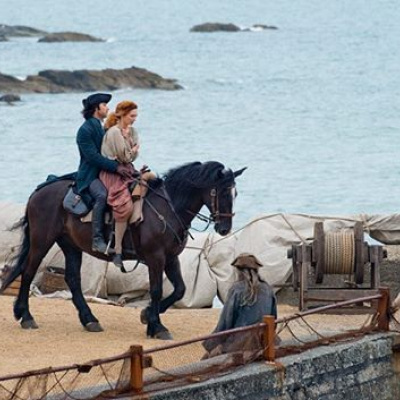 Poldark filming around the harbour,10mins walk
