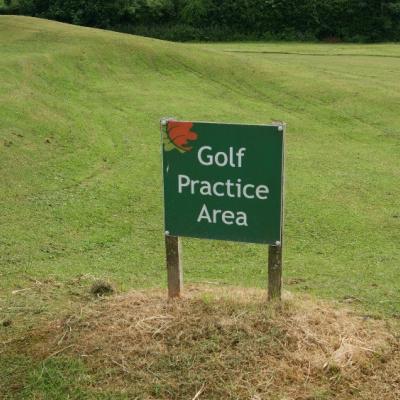 Golf practice area