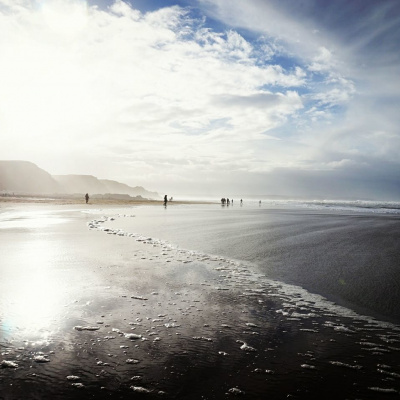 Sandymouth Beach just a 10 minute drive down the coast road