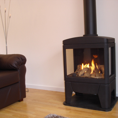New generation gas log burner effect burner. Looks and feels like the real thing but without the mess.
