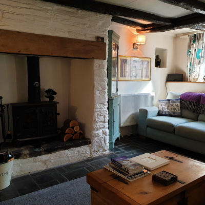 Inglenook fireplace, wood burning stove and original beams