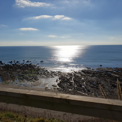 View from Portwrinkle Beach Cafe
