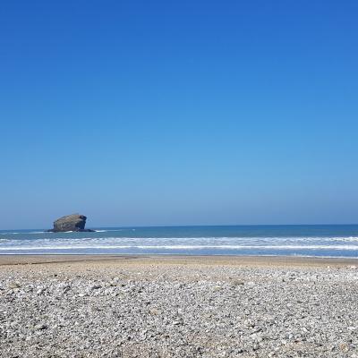 Gull Rock and Portreath Beach