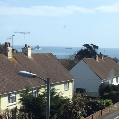 View from upstairs bedroom
