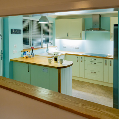 Kitchen and lounge serving hatch