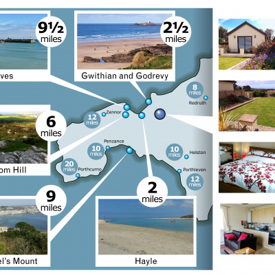 Chy ryb Connerton is the perfect location as a base for visiting so many wonderful places in West Cornwall.