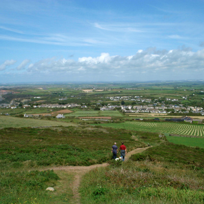 The stunning view from St Agnes Beacon