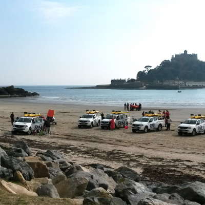Marazion beach with St Michael's Mount
