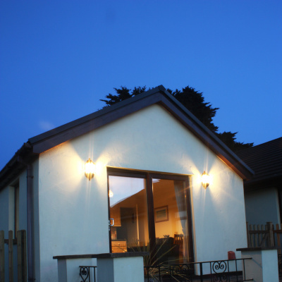 Annexe at twilight