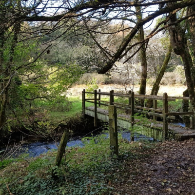 Nearby bridge over the River Camel