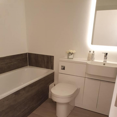 Newly decorated bathroom