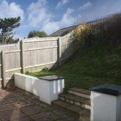 Private enclosed back garden