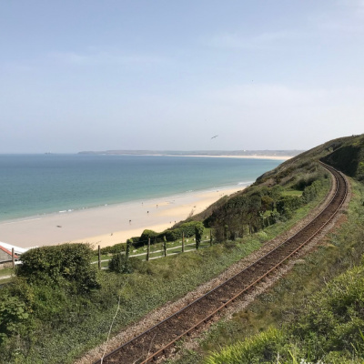 Short walk to Carbis Bay train station....a stunning train journey along the coast to St.Ives