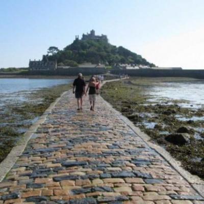 St Michael's Mount brick road