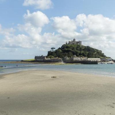 St Michael's Mount sandy beach