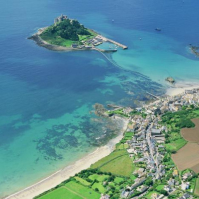 St Michael's Mount from above Marazion